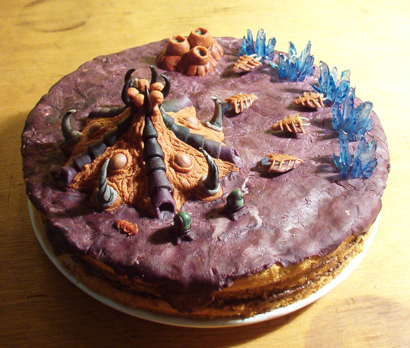zerg-base-cake-food-starcraft