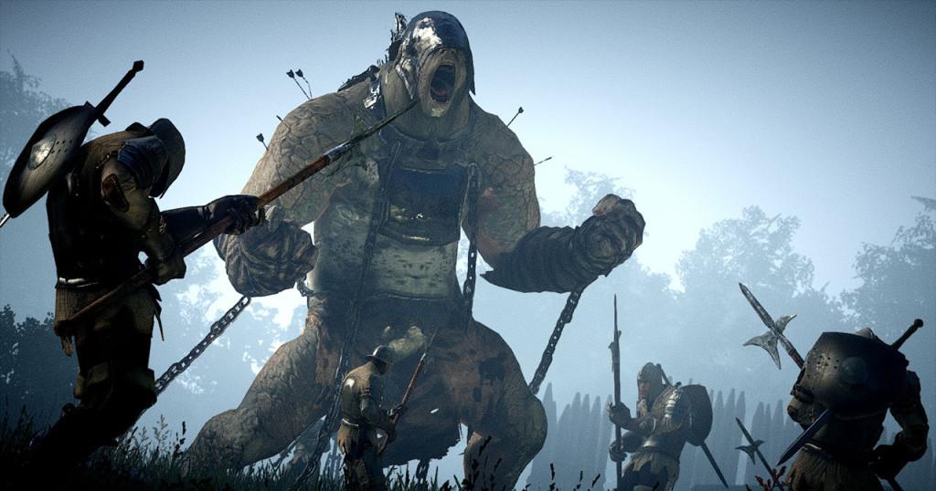 Огромный огр, утыканный стрелами, как ежик и закованный в цепи.. Даже жалко его стало.