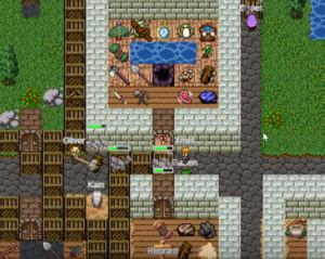 В игре нередки тролли, которые блокируют проходы и дома игроков. Их жестоко наказывают, а проходы вычищают все вместе, сообща. Сплочает :)